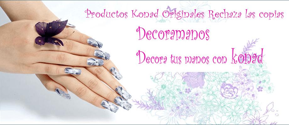 Utiliza productos originales konad para decorar tus uñas