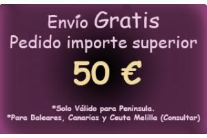 Oferta de envio Grátis a partir de 50 Euros