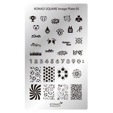 Placa Rectangular 05 Konad