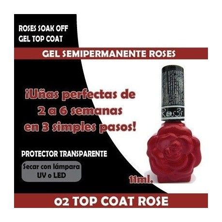 02 Gel Top Coat Roses 11 ml.