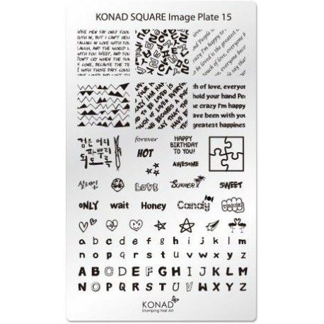 Placa Rectangular 145Konad