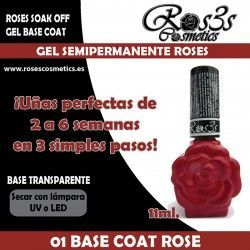 01-Gel Base Roses-Gel Semipermanente 11ml