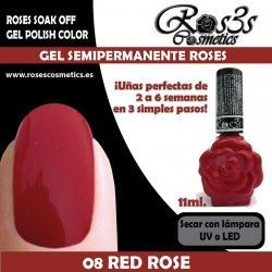 08 Red Rose - Gel Semipermanente 11ml.