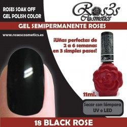 18 Black Rose - Gel semipermanente 11ml.