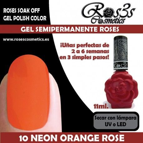 10 Neon Orange Rose 11ml.