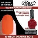 10 Neon Orange Rose - Gel semipermanente 11ml.