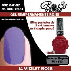 14 Violet Rose - Gel Semipermanente 11ml.