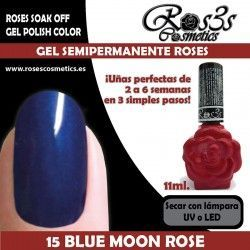 15 Blue Moon Rose - Gel semipermanente 11ml.