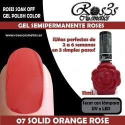 07 Solid Orange Rose - Gel semipermanente 11ml.
