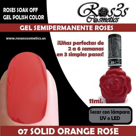 07 Solid Orange Rose 11ml.