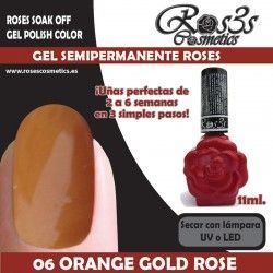 06 Orange Gold Rose - Gel Semipermanente 11ml.