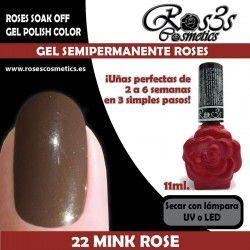22 Mink Rose - Gel Semipermanente 11ml.