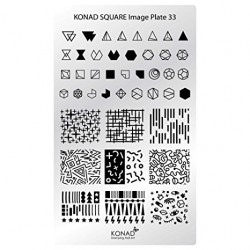 Placa Rectangular 33 Konad